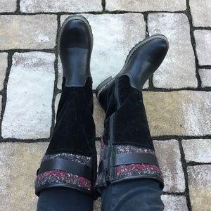 Muk Luks Kamy Tall Black Winter Riding Boots